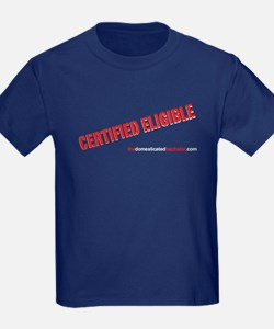 2-Certified Eligible black T-Shirt