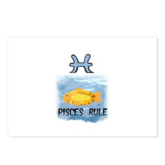 PISCES RULE Postcards (Package of 8)