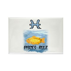 PISCES RULE Rectangle Magnet