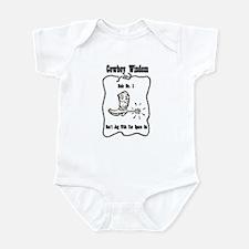 """Cowboy Wisdom"" Infant Bodysuit"