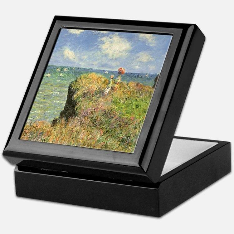 Claude Monet, Cliff Walk at Pourville Keepsake Box
