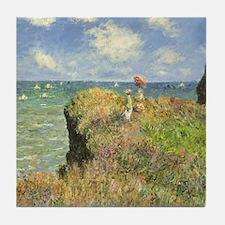 Claude Monet, Cliff Walk at Pourville Tile Coaster