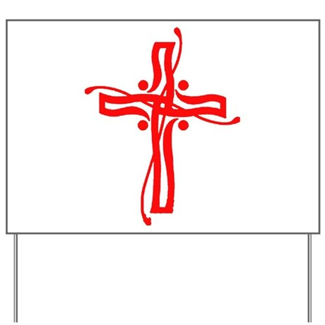 Cross Yard Sign