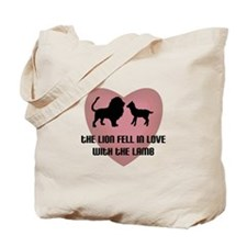 Lion Lamb Heart Tote Bag