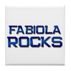 fabiola rocks Tile Coaster