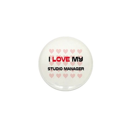 I Love My Studio Manager Mini Button