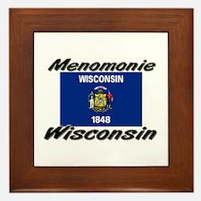 Menomonie Wisconsin Framed Tile