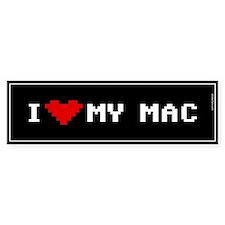 I Love My Mac Bumper Bumper Sticker