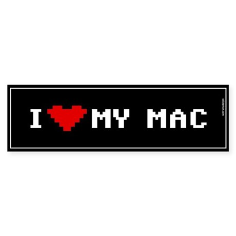 I Love My Mac Bumper Sticker