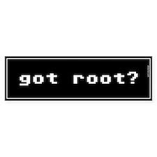 Got Root Bumper Car Sticker