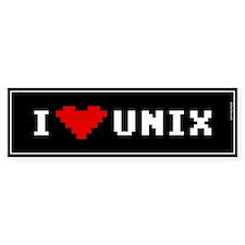 I Love Unix Bumper Bumper Sticker