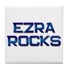 ezra rocks Tile Coaster