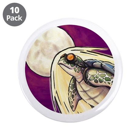 "Song of the Space turtle - 3.5"" Button (10 pa"