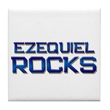 ezequiel rocks Tile Coaster