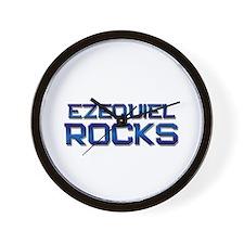 ezequiel rocks Wall Clock