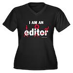 Editor Idiot Women's Plus Size V-Neck Dark T-Shirt