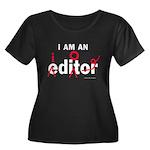Editor Idiot Women's Plus Size Scoop Neck Dark T-S