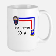 A Co. 6th Bn 502nd Inf Sign Large Mug