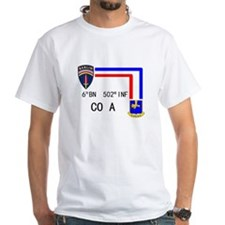 A Co. 6th Bn 502nd Inf Sign Shirt