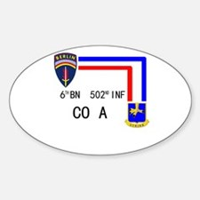 A Co. 6th Bn 502nd Inf Sign Oval Decal