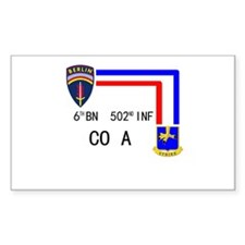 A Co. 6th Bn 502nd Inf Sign Rectangle Decal