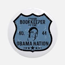 Bookkeeper Obama Nation Ornament (Round)