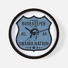Bookkeeper Obama Nation Wall Clock