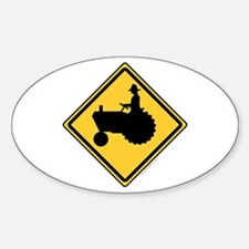 Tractor Sign Sticker (Oval)