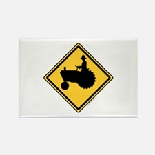 Tractor Sign Rectangle Magnet