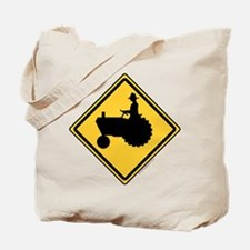 Tractor Sign Tote Bag