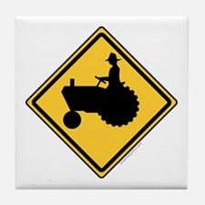 Tractor Sign Tile Coaster