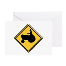 Tractor Sign Greeting Card