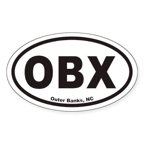 OBX Euro Oval Sticker