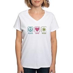 Peace Love Weed Shirt