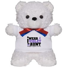 I Wear Violet For My Aunt Teddy Bear