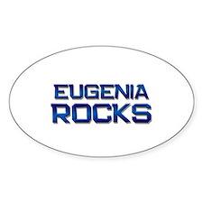 eugenia rocks Oval Bumper Stickers