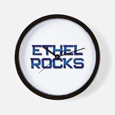 ethel rocks Wall Clock