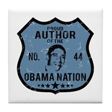 Author Obama Nation Tile Coaster
