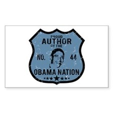Author Obama Nation Rectangle Decal