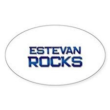 estevan rocks Oval Decal