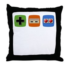 Old-School NES Controller Throw Pillow
