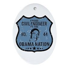 Civil Engineer Obama Nation Oval Ornament