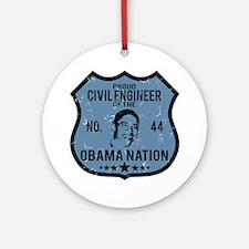 Civil Engineer Obama Nation Ornament (Round)