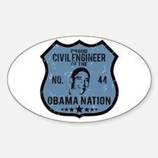 Civil Engineer Obama Nation Oval Decal