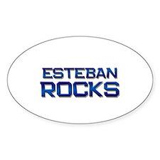 esteban rocks Oval Decal