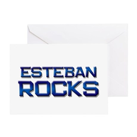 esteban rocks Greeting Card
