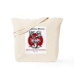 Hammering Heresy Tote Bag