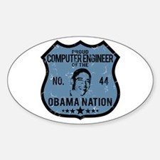 Computer Engineer Obama Nation Oval Decal