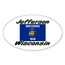 Jefferson Wisconsin Oval Decal