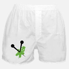 voodoo doll green Boxer Shorts